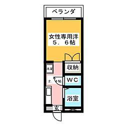ピュアモリシタ[3階]の間取り