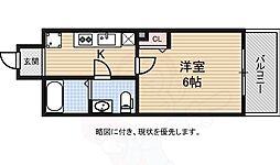 京阪本線 北浜駅 徒歩5分の賃貸マンション 13階1Kの間取り