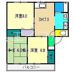 セジュール鍋島[1階]の間取り