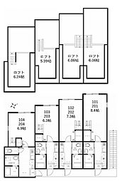 ハーミットクラブハウス鶴見生麦IIB(仮称)[2階]の間取り
