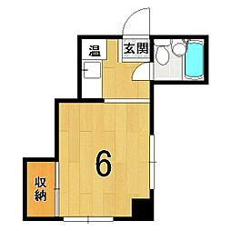 山澤マンション[203号室]の間取り