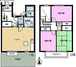 祇園ガーデンハウス[D1号室]の間取り