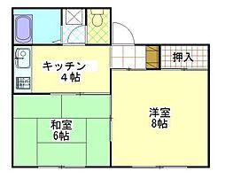 コーポSASAKI[203号室]の間取り