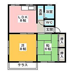 カルム青山 A棟[1階]の間取り