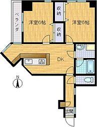 パレーシャル34[6階]の間取り
