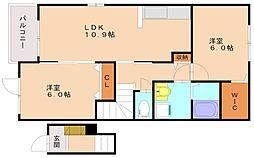 サンヴィレッジ1[2階]の間取り