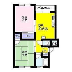 エスポワール南浦和[3階]の間取り