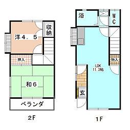 [テラスハウス] 神奈川県横浜市旭区笹野台3丁目 の賃貸【/】の間取り