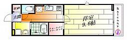 大阪府茨木市丑寅2丁目の賃貸アパートの間取り