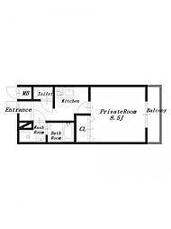 大東ビル[4階]の間取り