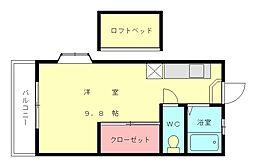 ブルーメンII[1階]の間取り