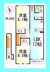 セレーノ藤澤[2階]の間取り