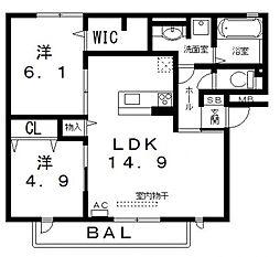 仮)D-room高美町[301号室号室]の間取り