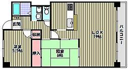 クレストツジミ[5階]の間取り