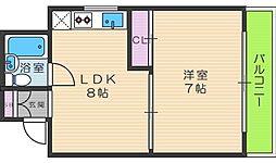 桃井マンション[4階]の間取り