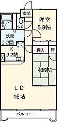 愛知県安城市今池町1丁目の賃貸マンションの間取り