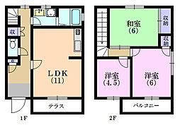 [テラスハウス] 静岡県浜松市南区楊子町 の賃貸【/】の間取り