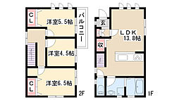 [一戸建] 愛知県日進市岩崎町ケカチ の賃貸【/】の間取り