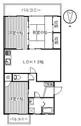 レジデンス矢島[3階]の間取り