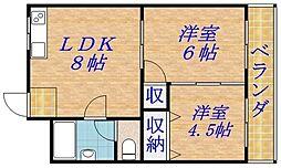 大宮マンション[4階]の間取り