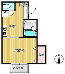 クレール薬師台3番館[2階]の間取り
