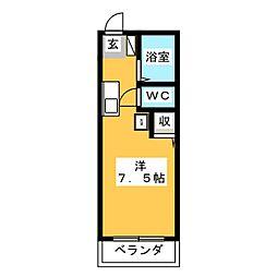 プラコート鴻之台[1階]の間取り