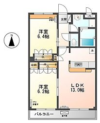 グランベル・ハウス2[2階]の間取り