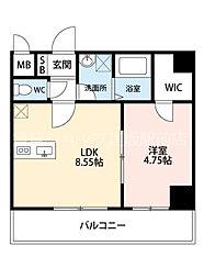 阪急千里線 豊津駅 徒歩5分の賃貸マンション 3階1LDKの間取り