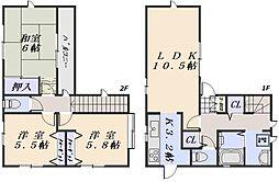 メゾネット川内 A棟[2階]の間取り