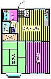 TOMATO HOUSE[203号室]の間取り
