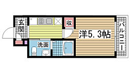 兵庫県神戸市兵庫区駅南通3丁目の賃貸マンションの間取り