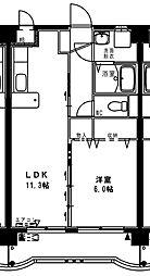 (賃)コンフォール大橋[4階]の間取り