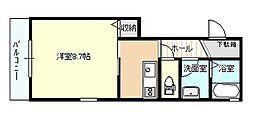 レジデンス早稲田[301号室]の間取り
