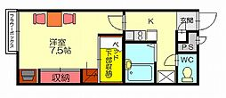 レオパレスYOU[1階]の間取り