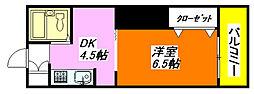 栗山・マンション 504号室[5階]の間取り