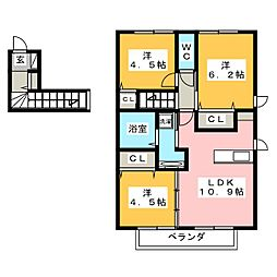 D-room南福岡II[2階]の間取り