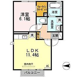 サニーハイツHodono[2階]の間取り