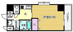 インベスト北梅田[5階]の間取り