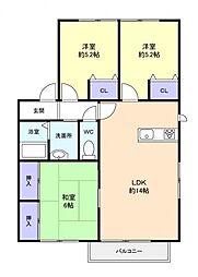 クレスト大和田A[2階]の間取り