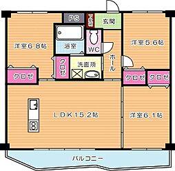 KSK中須コアプレイス[2階]の間取り