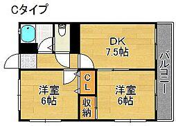 ウエノ第一マンション[4階]の間取り