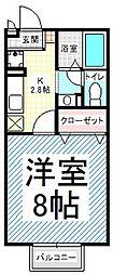 パルフェ三輪B棟[1階]の間取り