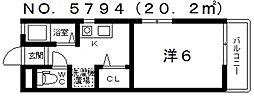 アイパルハイツ[1階]の間取り