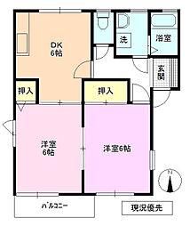 長野県長野市大字安茂里西河原の賃貸アパートの間取り