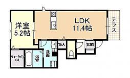 (仮称)D-room大県[102号室号室]の間取り