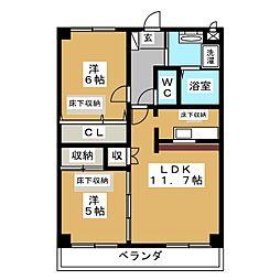 M's RENACE[2階]の間取り