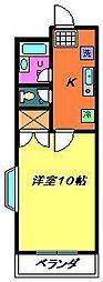 千葉県千葉市稲毛区小中台町の賃貸マンションの間取り