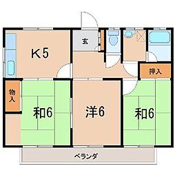 0331コーポFK  A棟[101号室]の間取り