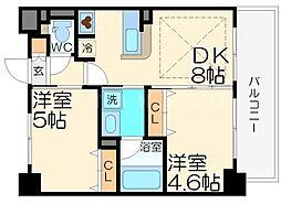 エステムコート新大阪IXグランブライト[3階]の間取り