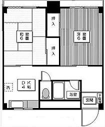 東京都世田谷区代田4丁目の賃貸マンションの間取り